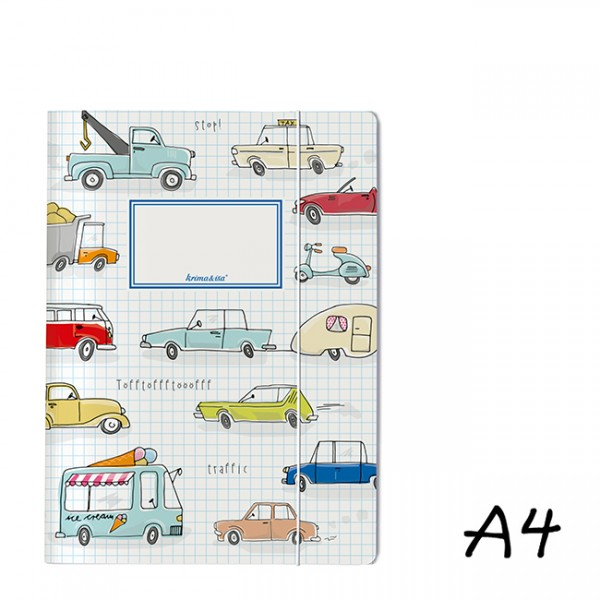 Krima & Isa - DIN A4 Mappe Autos