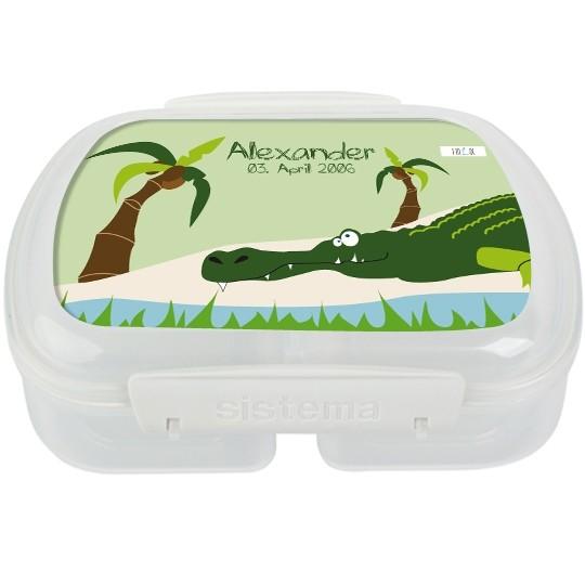 Finlix - Brotdose personalisiert Krokodil