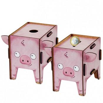 Schwein Spardose und Stiftebox
