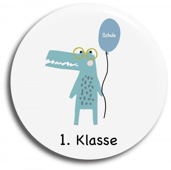 Button Krokodil 1. Klasse