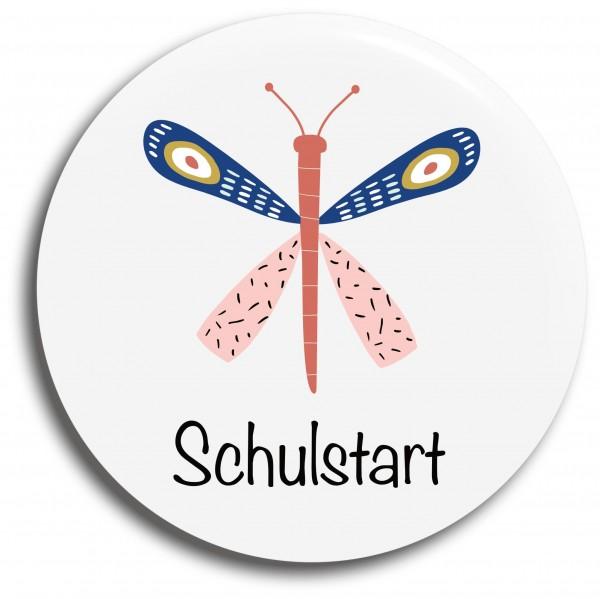 Button Schmetterling Schulstart