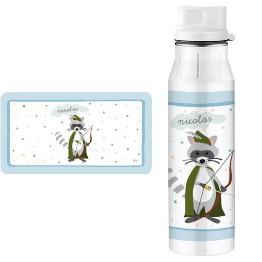 Edelstahlflasche personalisiert waschb r finlix ich for Einschulungsfeier deko