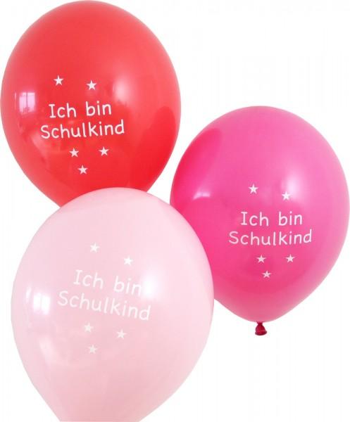 Luftballon Set Ich bin Schulkind rosa/pink/rot