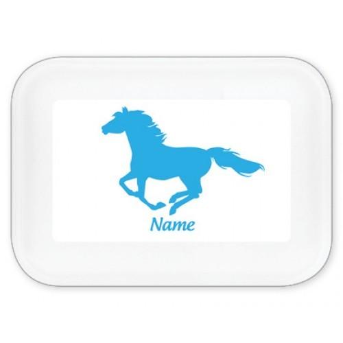 Mein Teller - Brotdose Pferd mit Namen