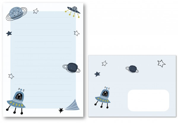 Briefpapier Weltraum