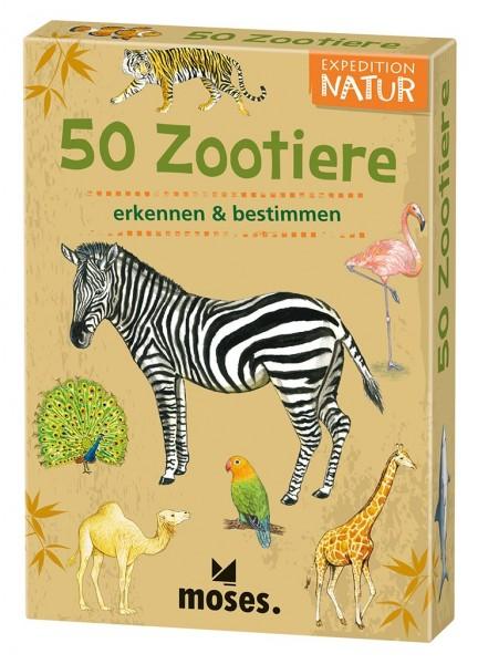 Kartenset 50 Tiere im Zoo
