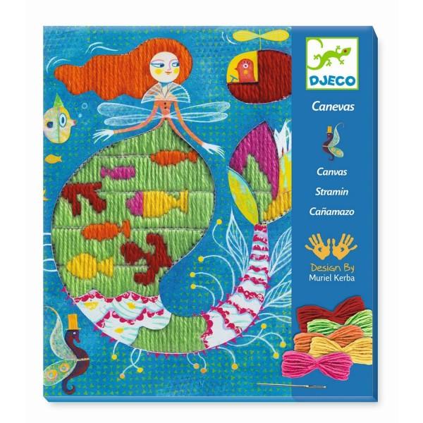 Djeco - Stickbild Meerjungfrau