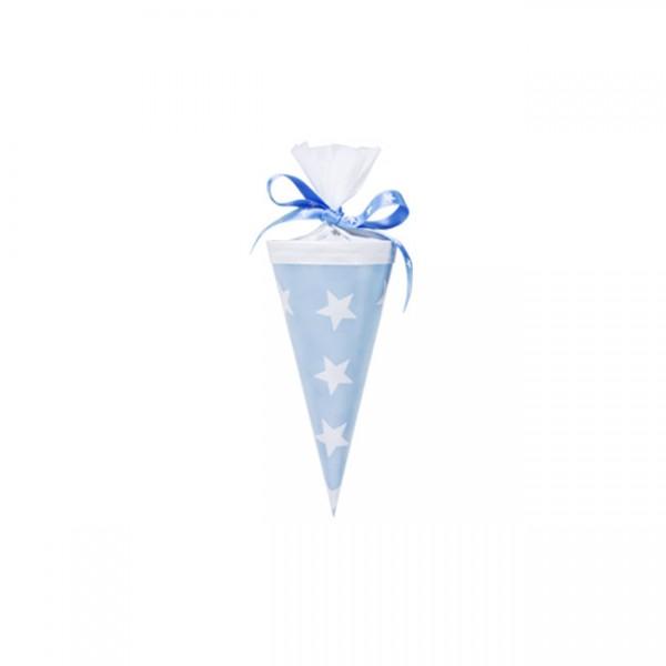 Krima & Isa - Mini Schultüte Sterne hellblau