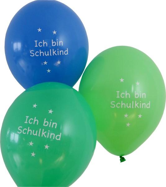 Luftballon Ich bin Schulkind div. Farben
