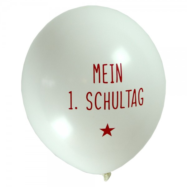 Luftballon Mein 1. Schultag rot