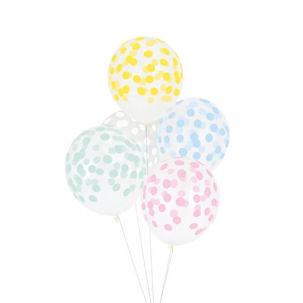 Ballons Konfetti pastel