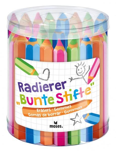 Radierer Bunte Stifte 4er Set