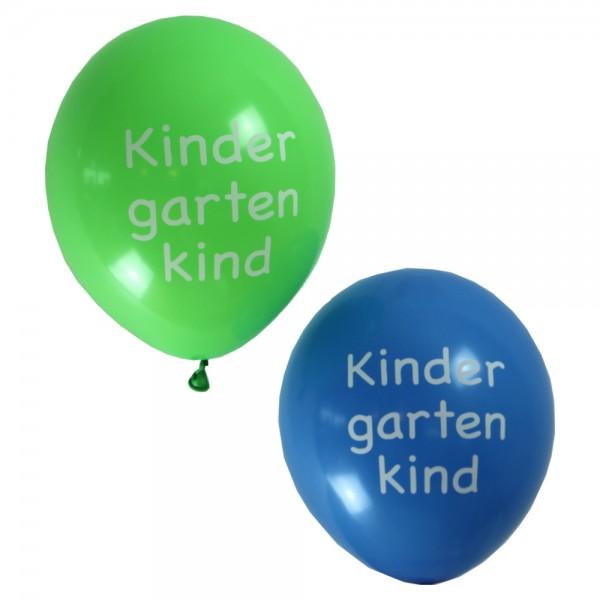 Luftballon Set Kindergartenkind blau/grün