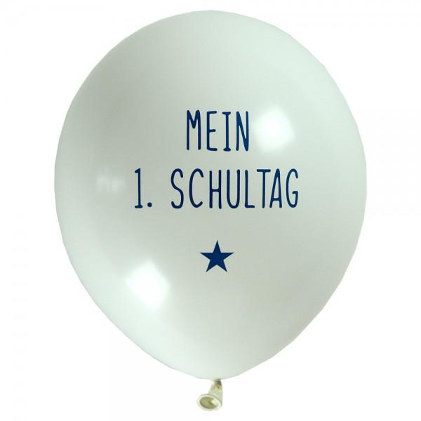 Luftballon Mein 1. Schultag blau