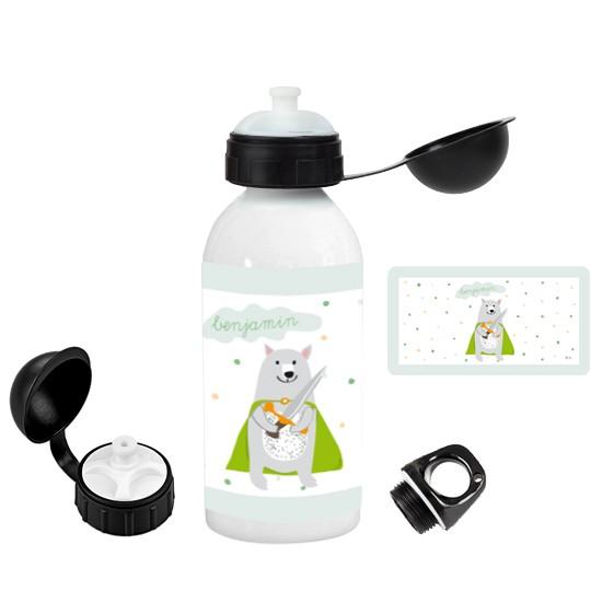 Personalisierte Trinkflasche Bär - Finlix