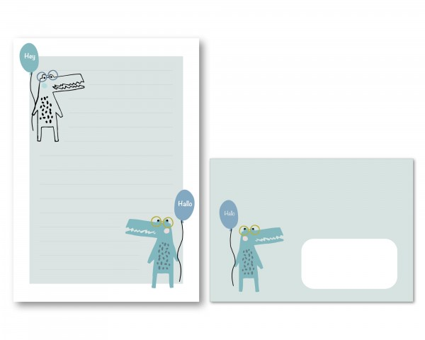 Briefpapier Krokodil