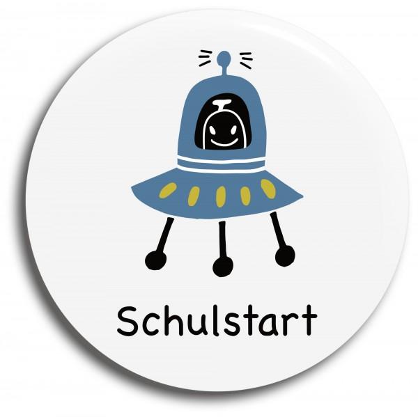 Button Raumschiff Schulstart