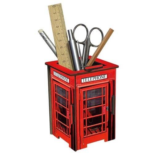 Spardose und Stiftebox klein Telefonzelle