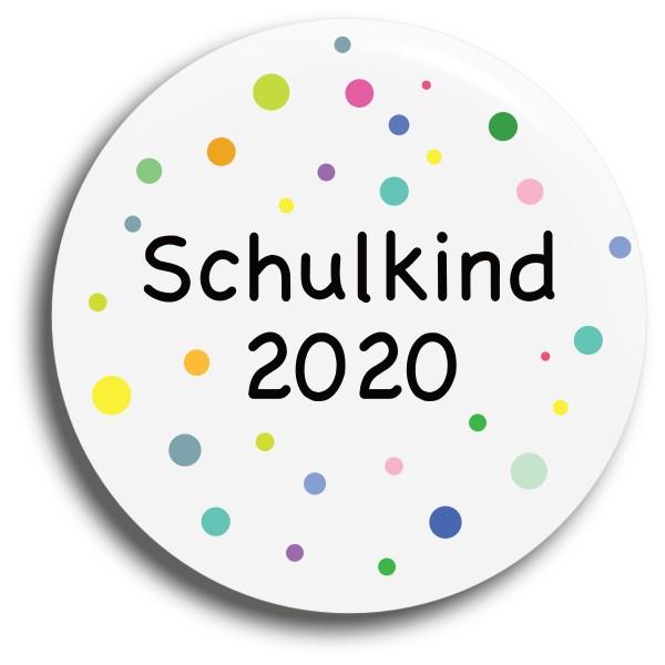 Button Punkte Schulkind 2020