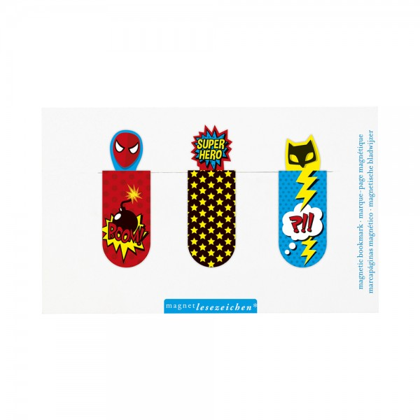 Magnetlesezeichen Superhelden
