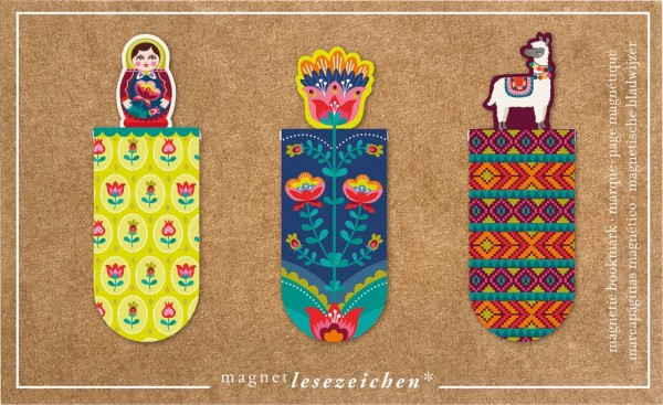 Magnetlesezeichen Lama Folklore