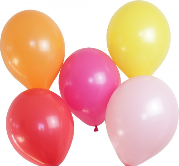 Luftballon Set rosa/pink/rot/orange/gelb