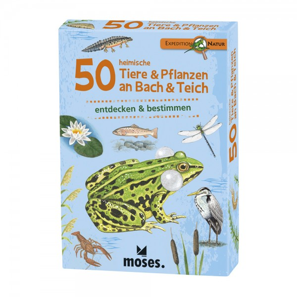 Kartenset 50 TIere & Pflanzen an Bach & Teich