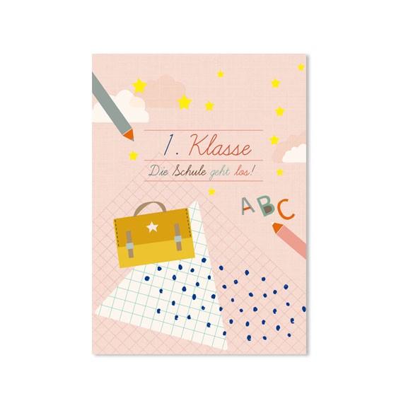Postkarte Einschulung Mädchen