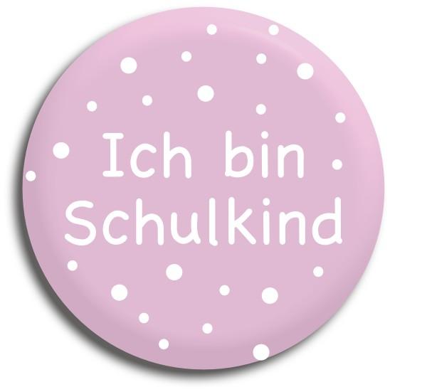 Button Ich bin Schulkind rosa
