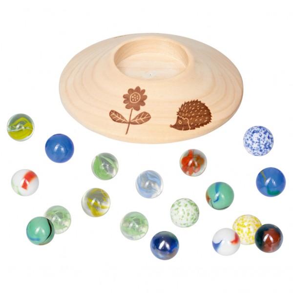 Murmelspiel mit Holzteller
