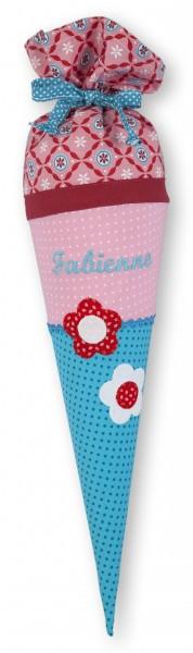Geschwister Schultüte Fabienne Blumen - Crepes Suzette 35cm