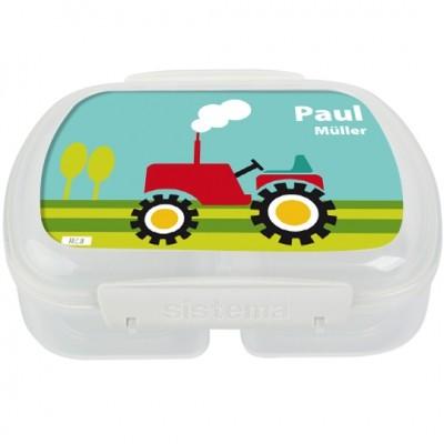 Finlix - Brotdose personalisiert Traktor