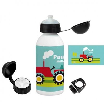 Personalisierte Trinkflasche Traktor - Finlix