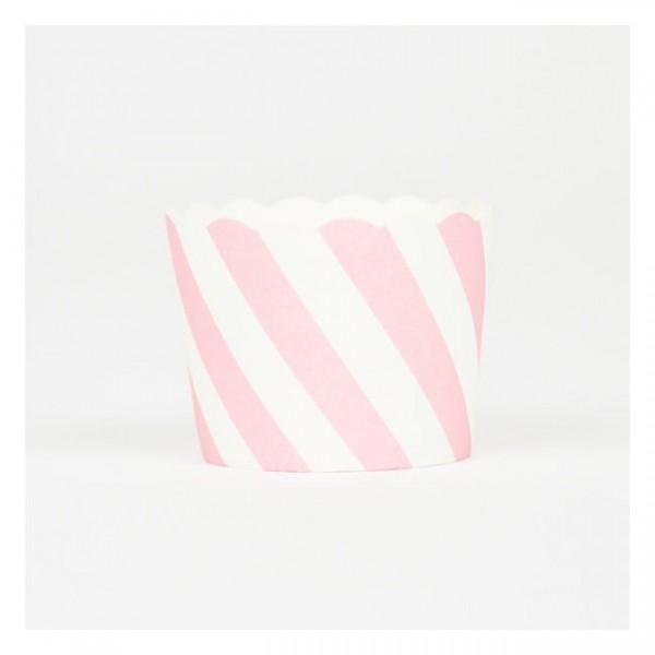 Baking Cups Streifen rosa