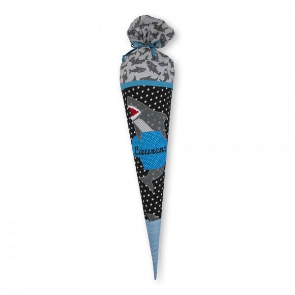 Schultüte personalisiert Hai Laurenz - Crepes Suzettte