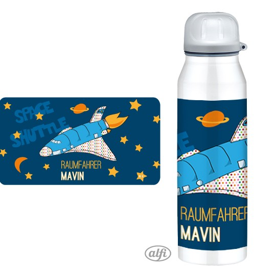 Thermosflasche Spaceshuttle mit Namen - Finlix