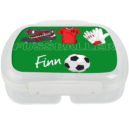 Personalisierte Brotdose Fussball div. Farben - Finlix
