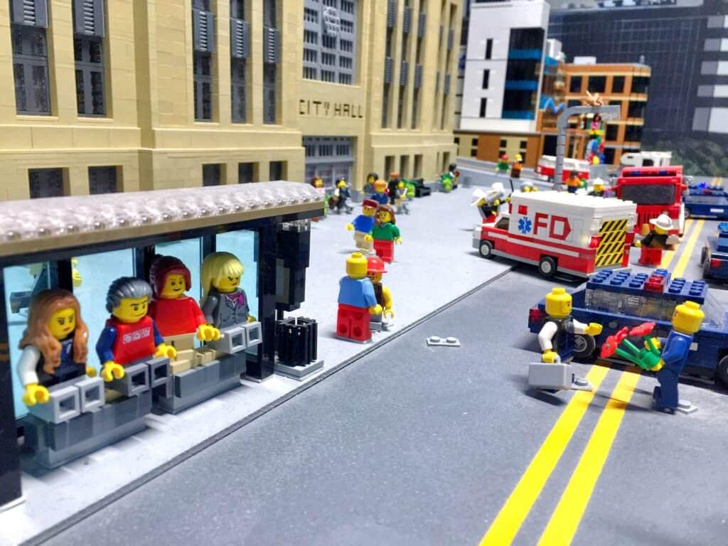 Schulwegspiel mit Lego